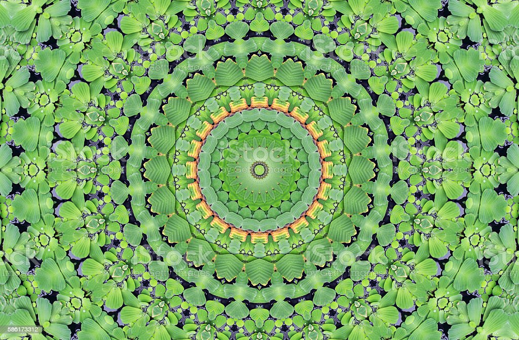 Abstract kaleidoscope seamless pattern stock photo