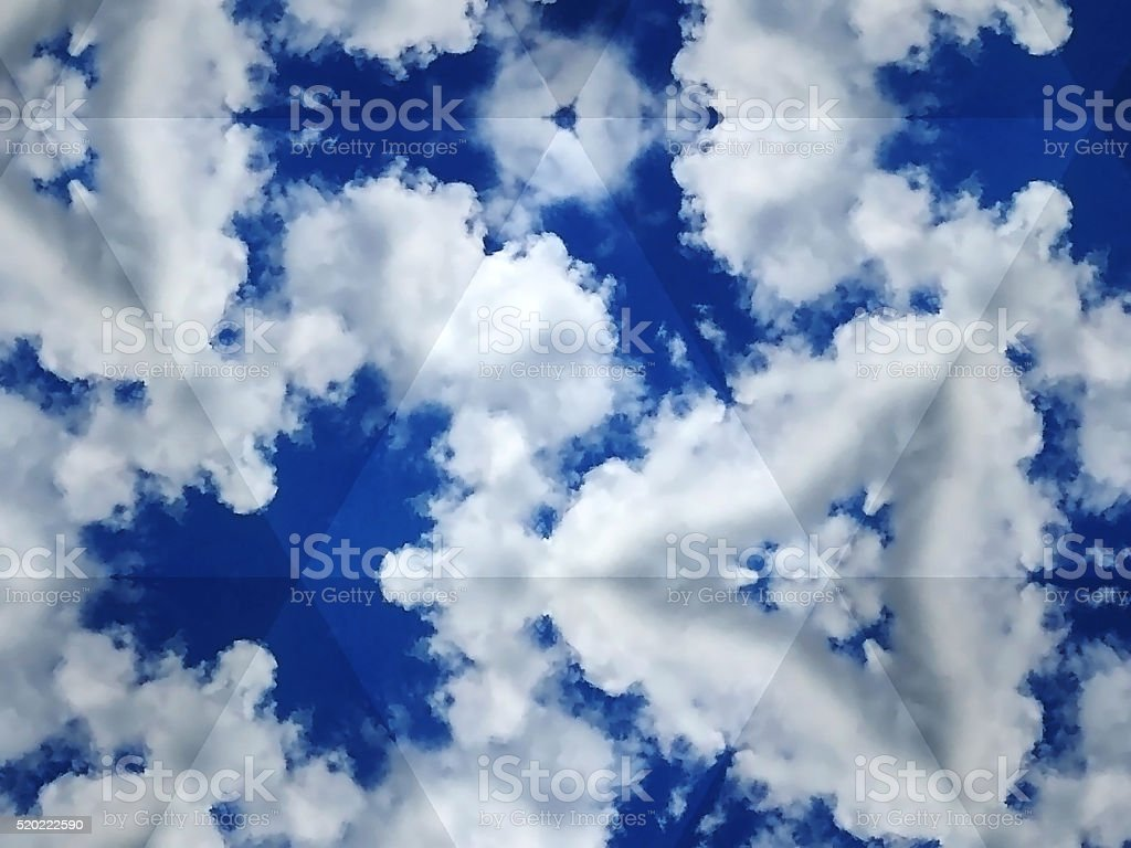 Abstract kaleidoscopic texture stock photo
