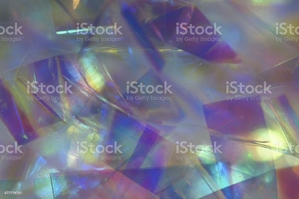 Abstract Kaleidoscopical, mulicolor texture, clear glass macro royalty-free stock photo