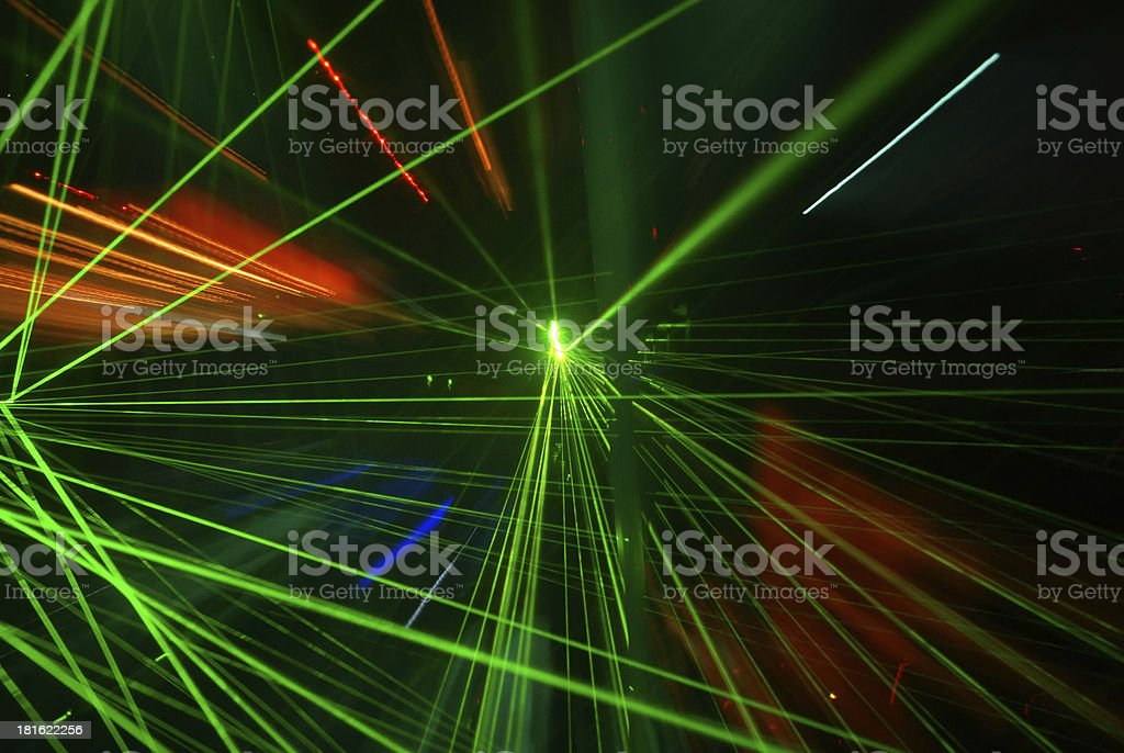 Abstract laser light stock photo