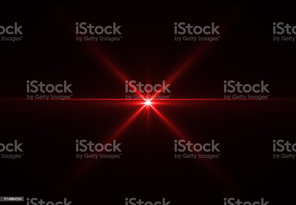 Abstract laser star red (super high resolution) stock photo