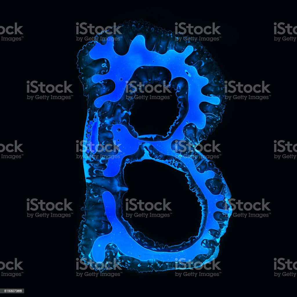 Abstract letter B stock photo