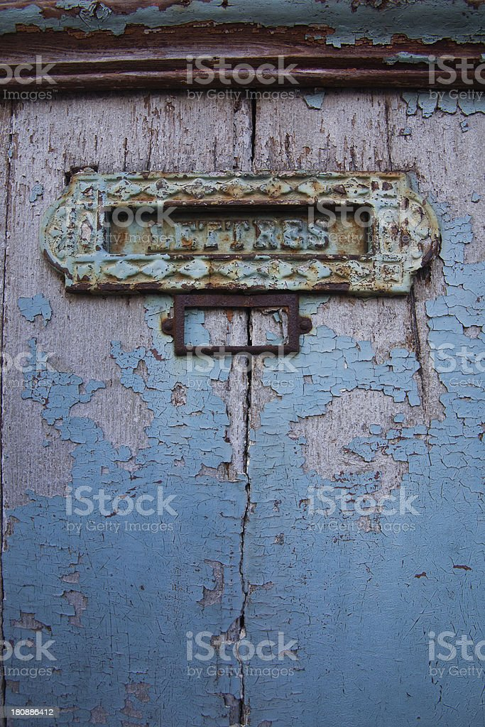 Abstract letterbox royalty-free stock photo