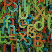 Abstract letters illustration.