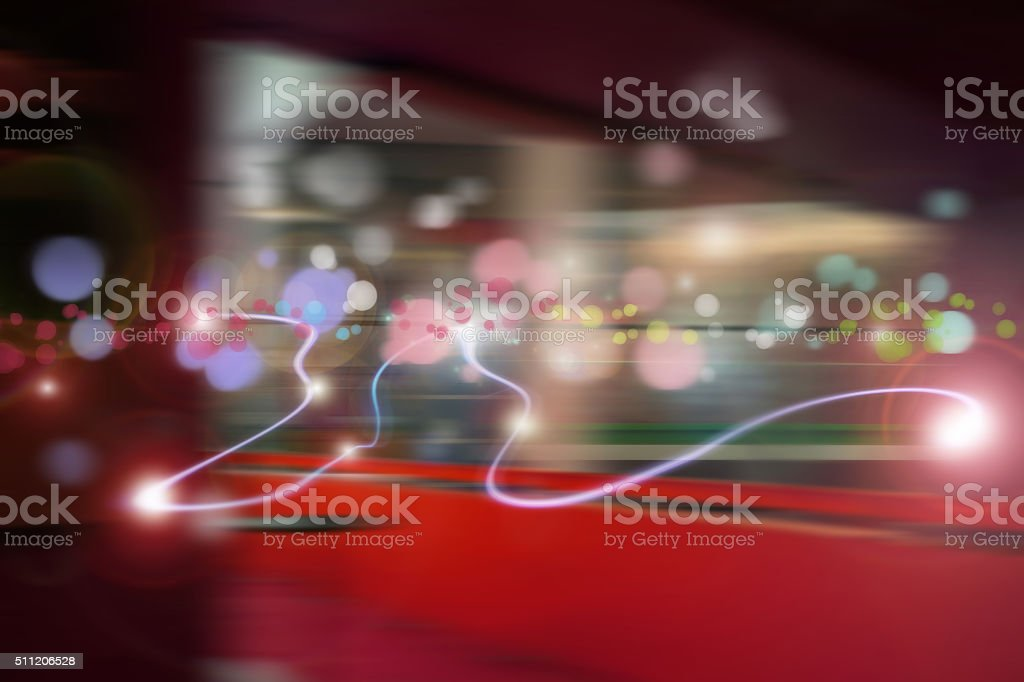 Abstract Light and data stock photo