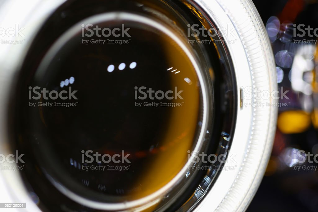Abstract light background. Concept: car light tuning. Image with depth of field. stock photo