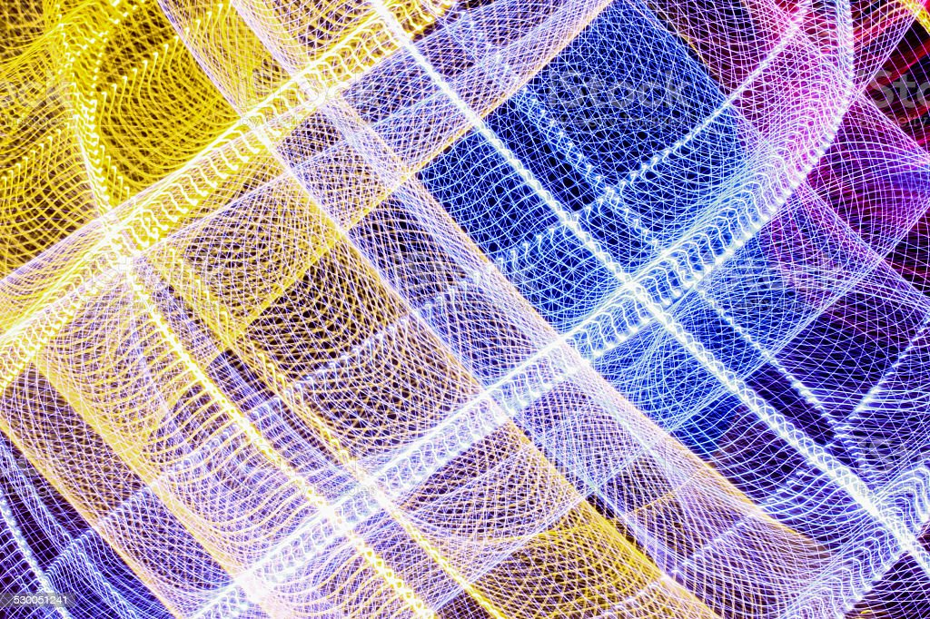 Abstract light lines on black stock photo