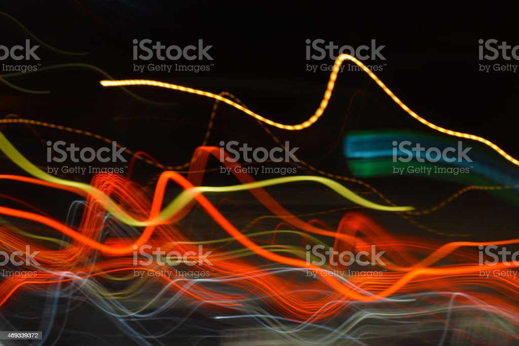 abstract light painting, acceleration light motion lines background stock photo