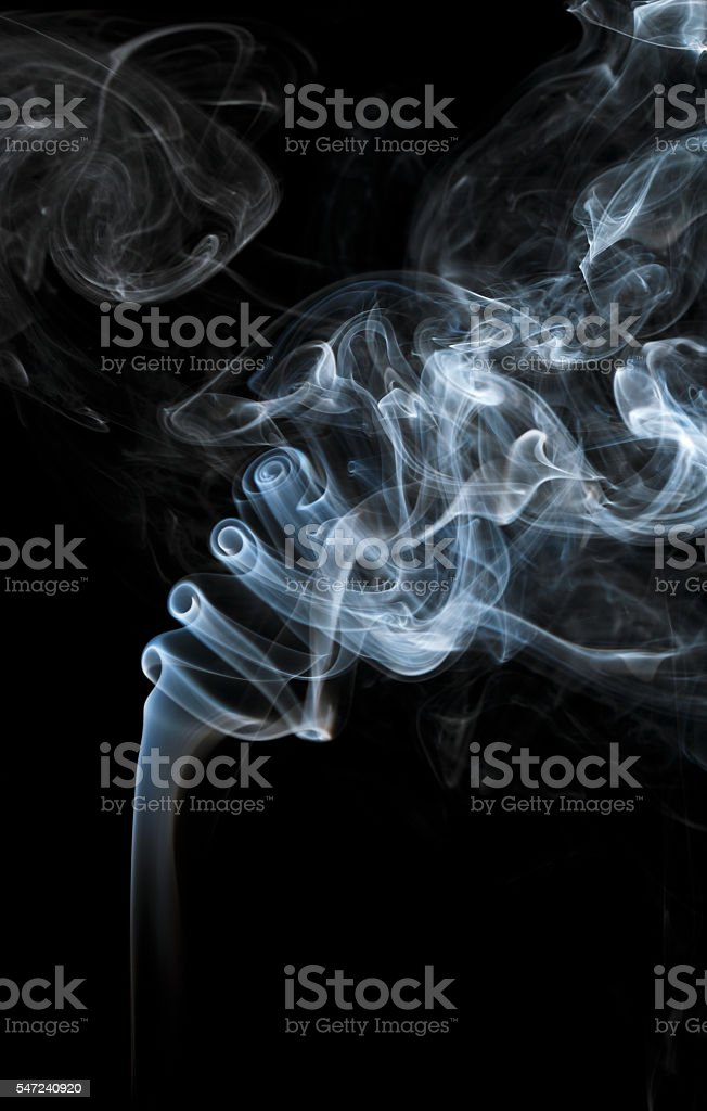 Abstract light smoke on a black background stock photo