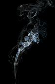 Abstract light smoke on dark background