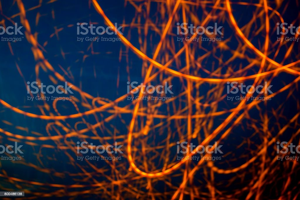 Abstract light traffic motion at night, long exposure photography stock photo