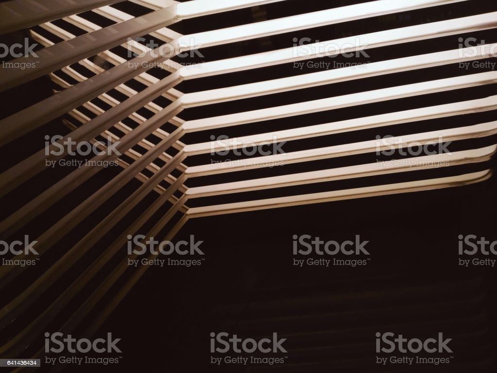 Abstract line of shadow light and mirror reflection stock photo