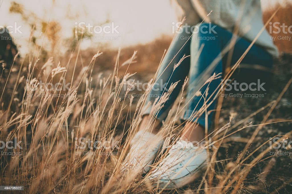 Abstract loneliness concept stock photo