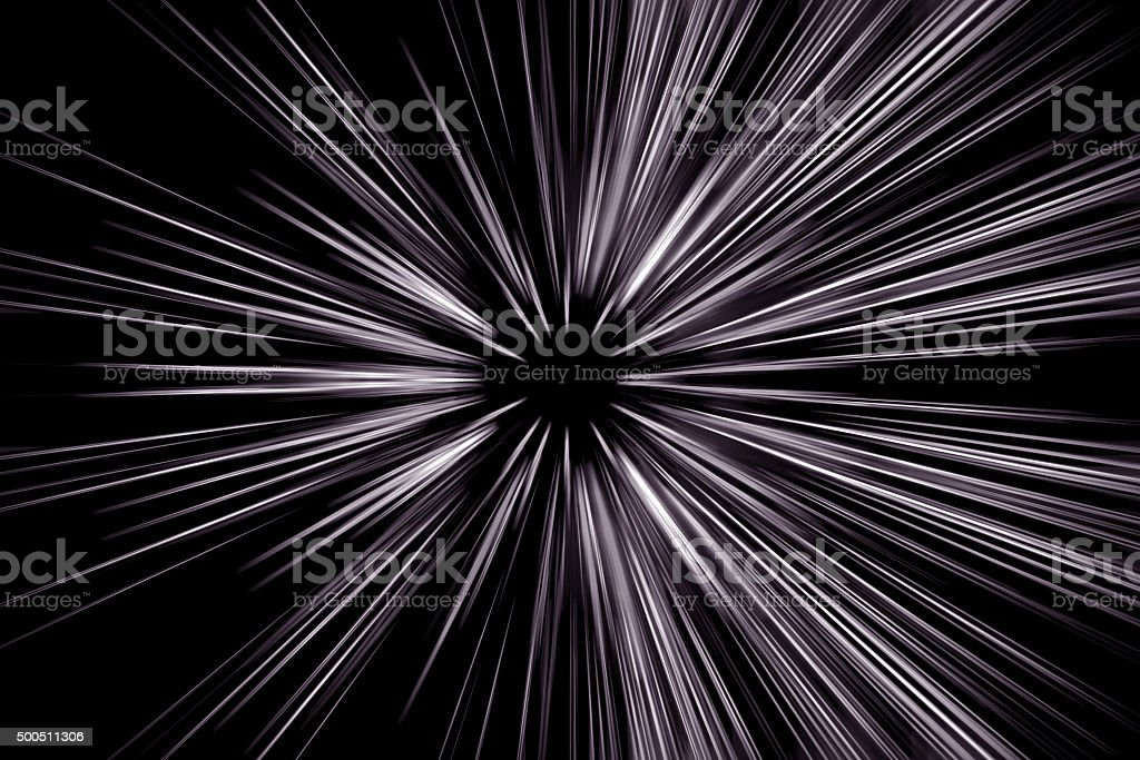 Abstract long exposure, speed lines motion stock photo
