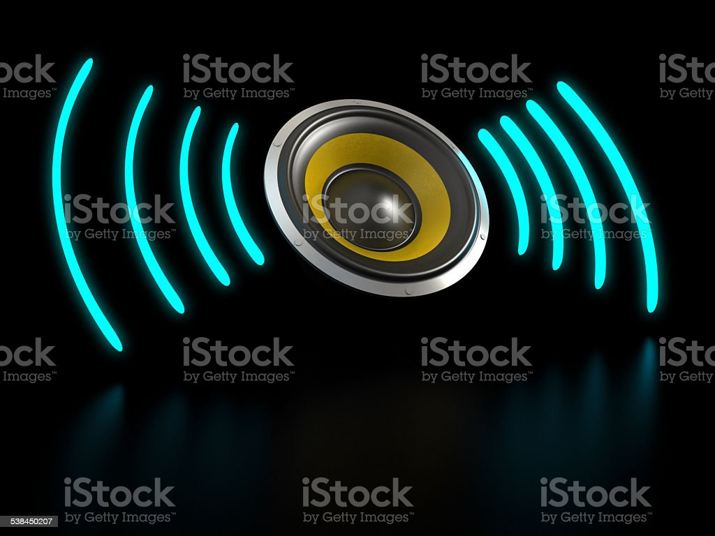 Abstract Loud Speaker stock photo