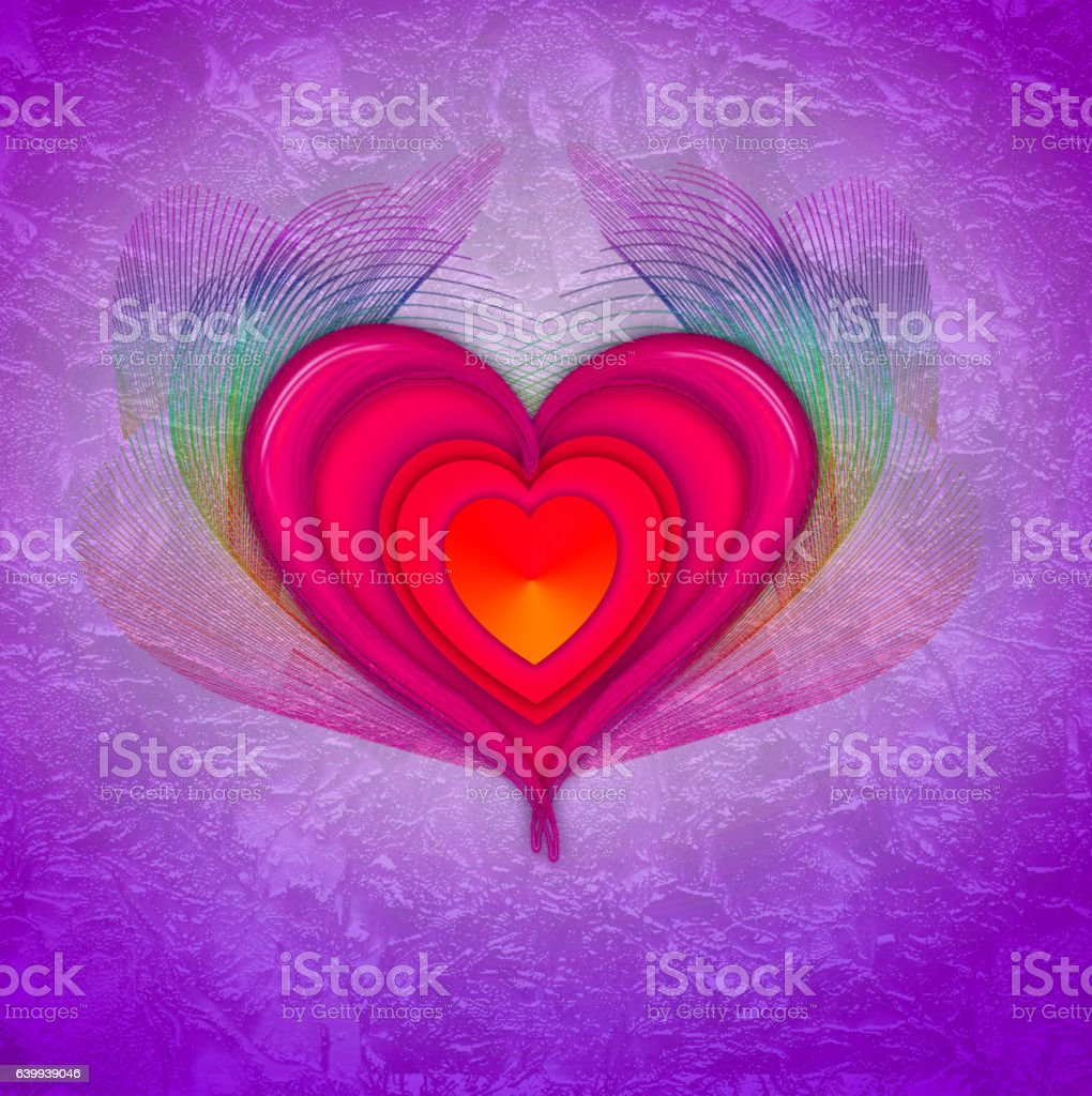 Abstract love background. vector art illustration