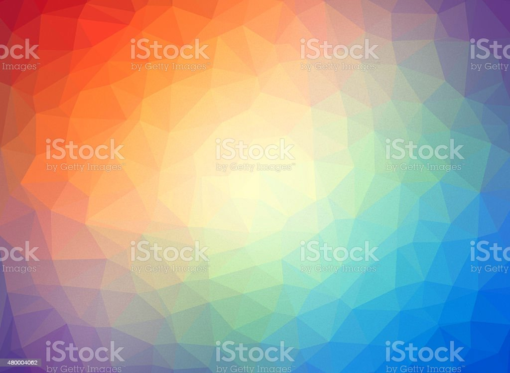 Abstract low poly multicolor background stock photo