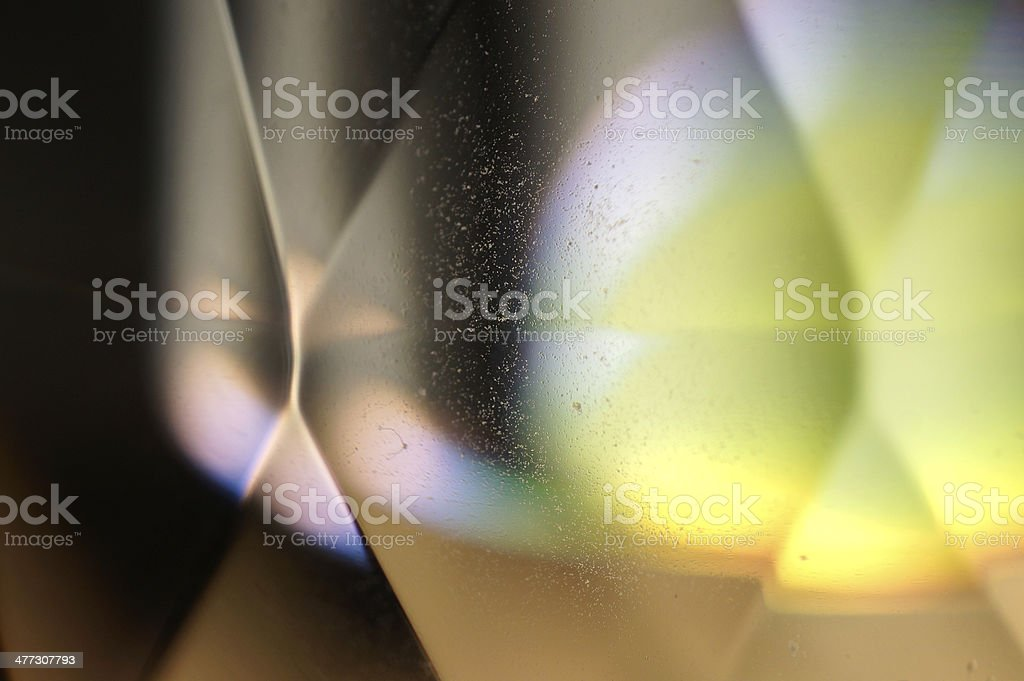 Abstract Macro of multicolor SWAROVSKI crystal stock photo