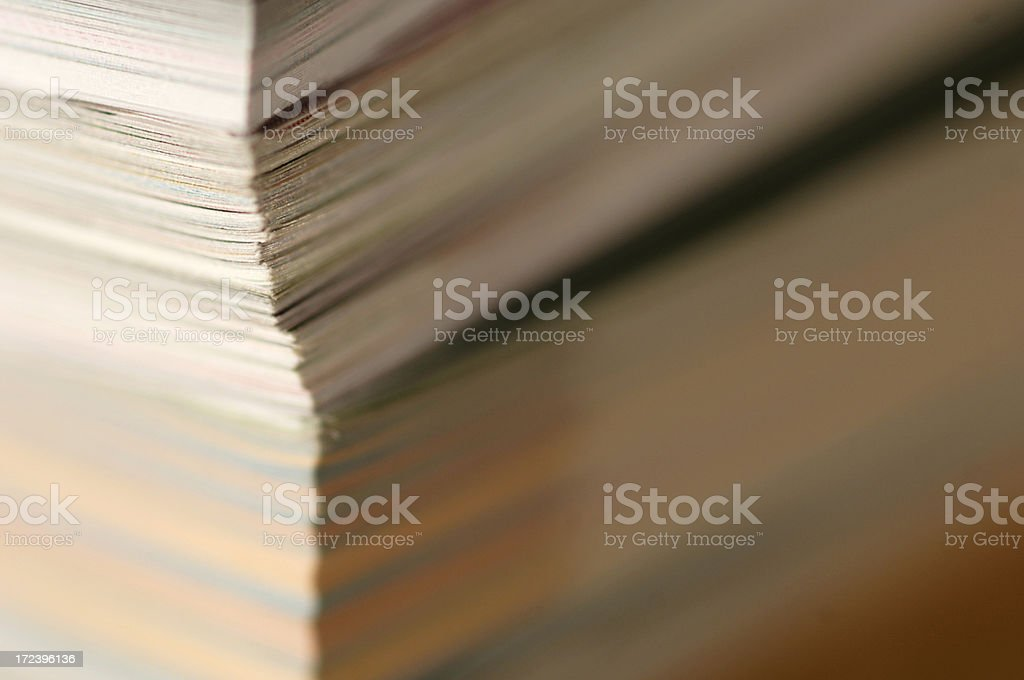 abstract magazine series stock photo