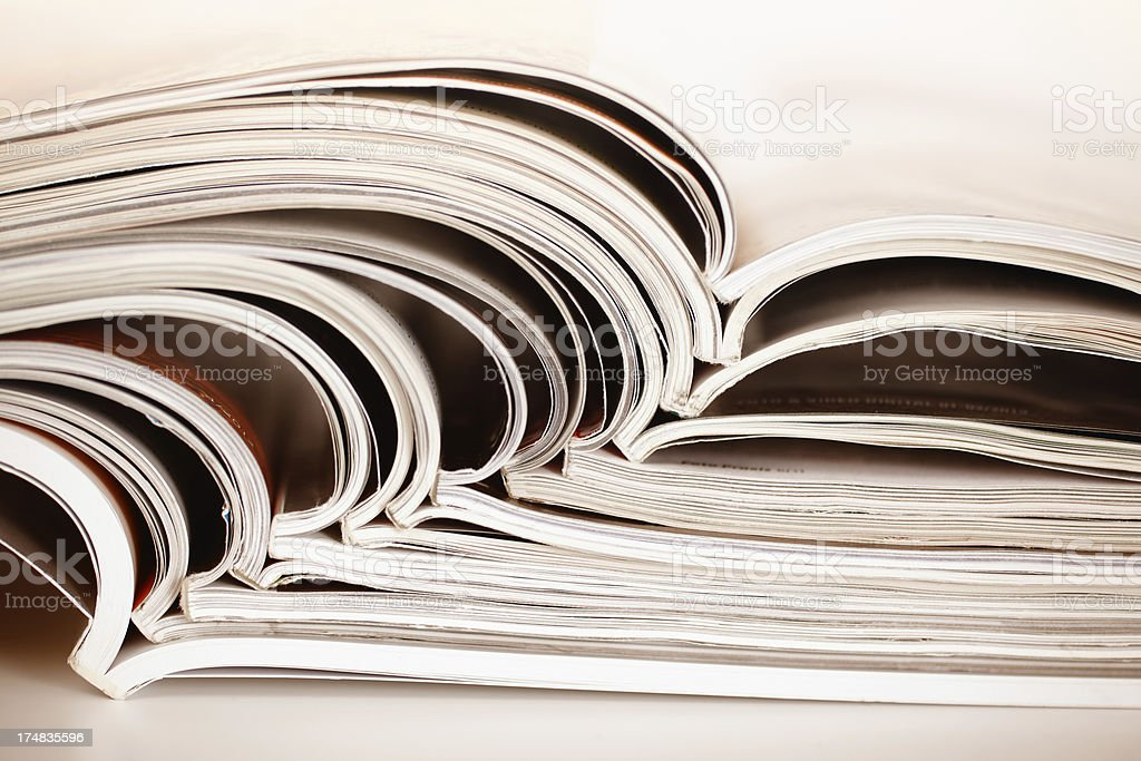 abstract magazines royalty-free stock photo