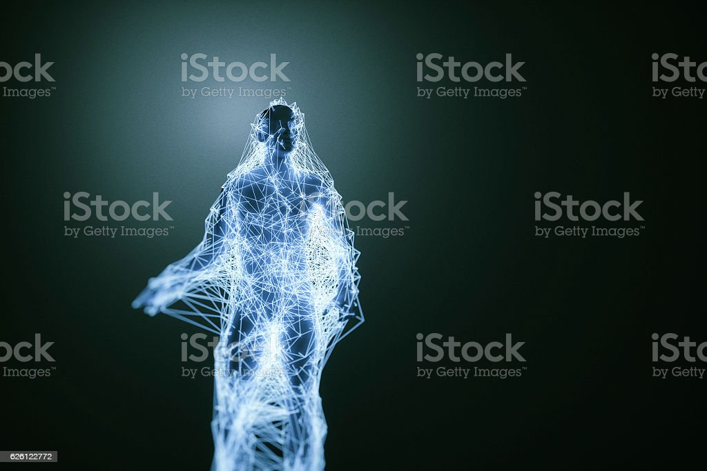 Abstract male form stock photo