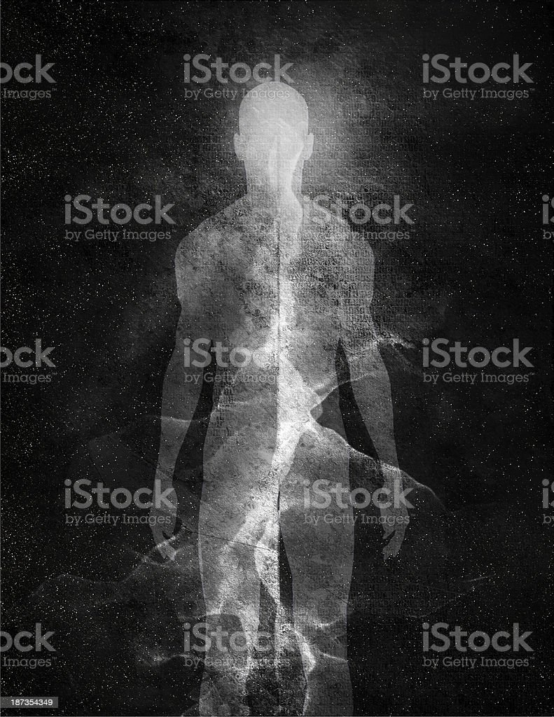 Abstract Man stock photo