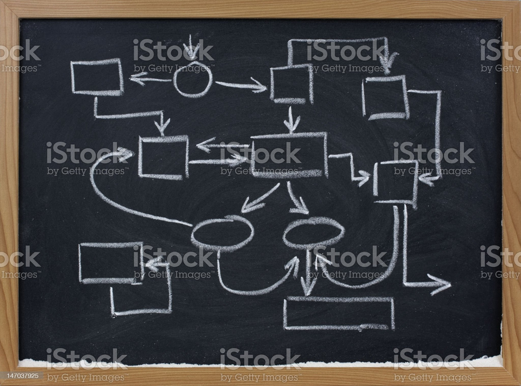 abstract management scheme on blackboard royalty-free stock photo