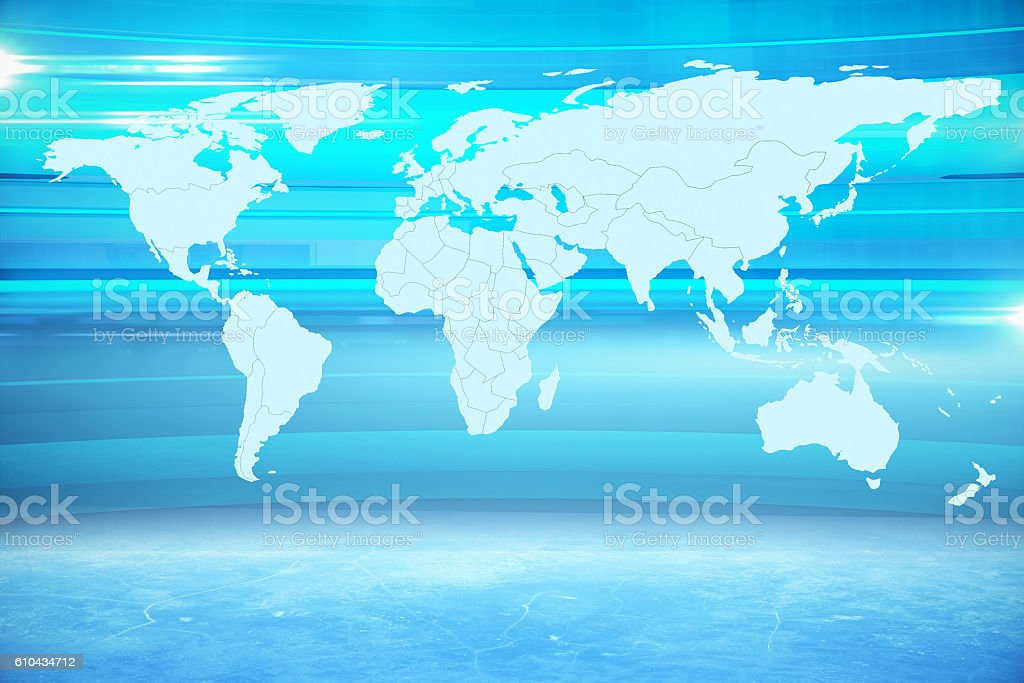 Abstract map stock photo
