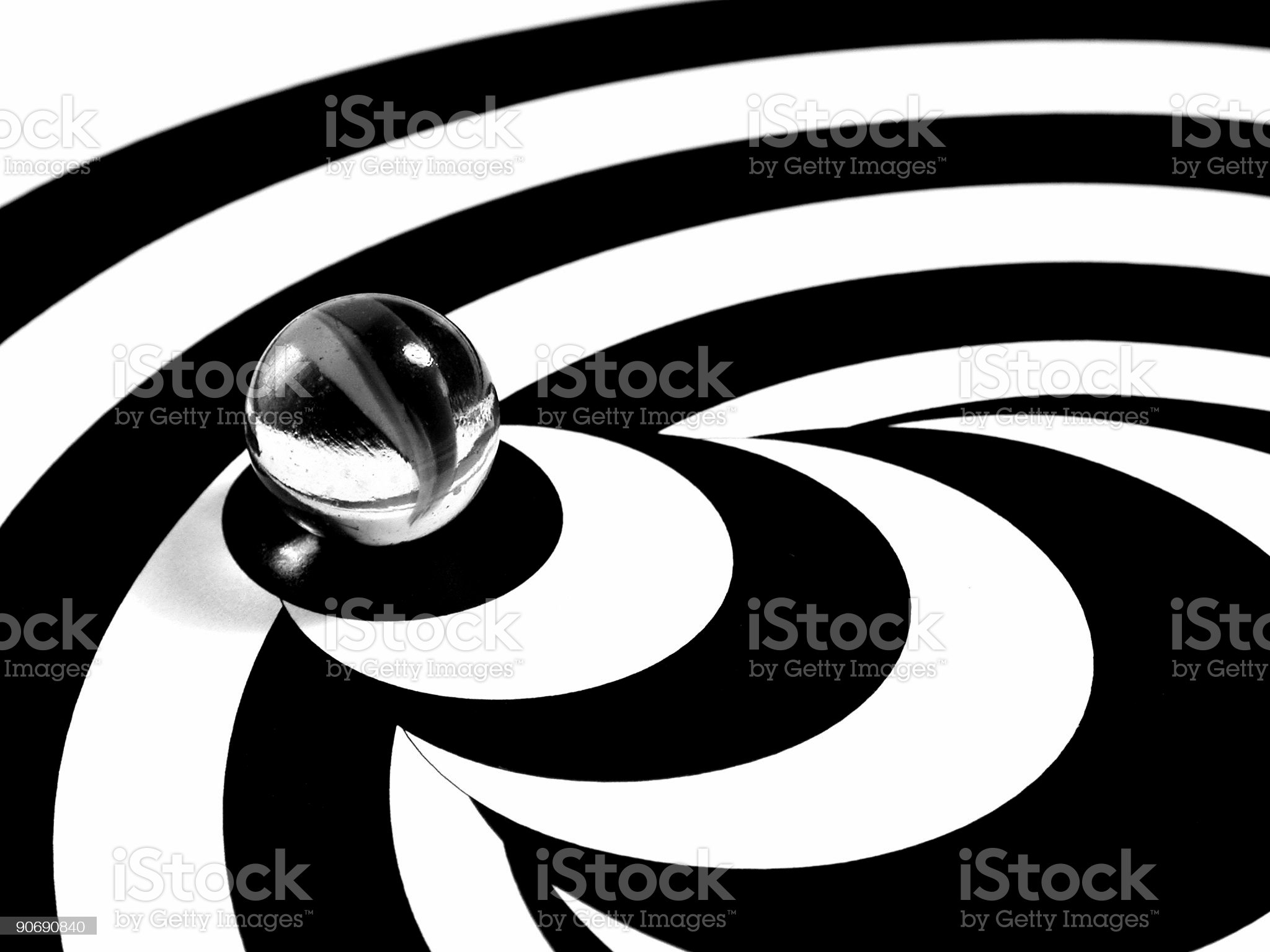 Abstract Marble in Black and White royalty-free stock photo