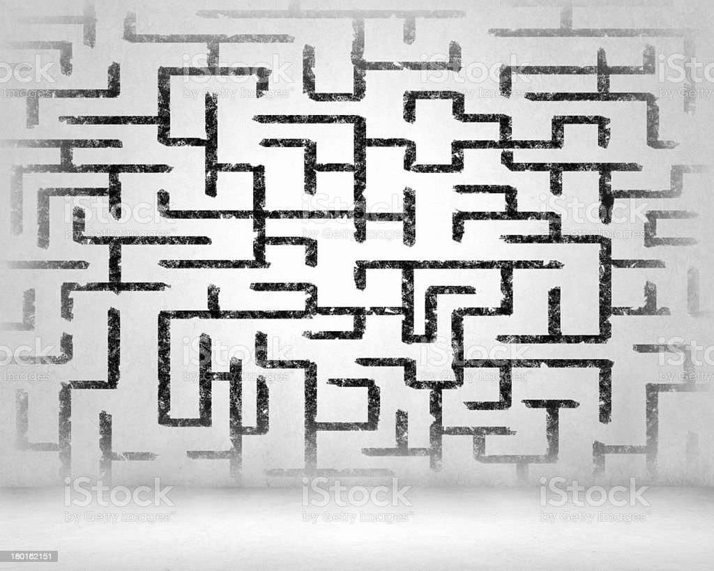 Abstract maze royalty-free stock photo