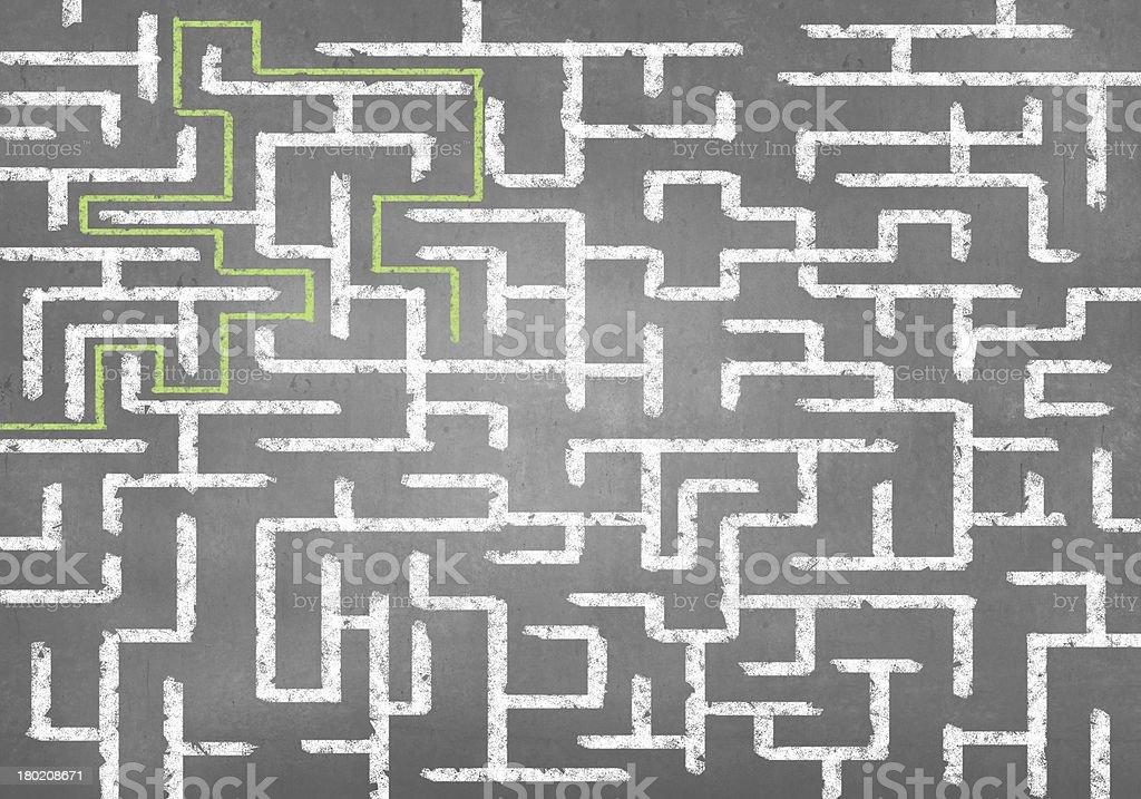 Abstract maze royalty-free stock photo