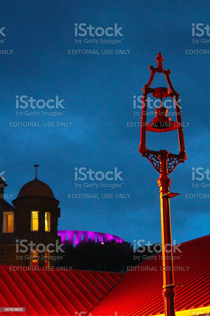 Abstract McCaig's Tower stock photo