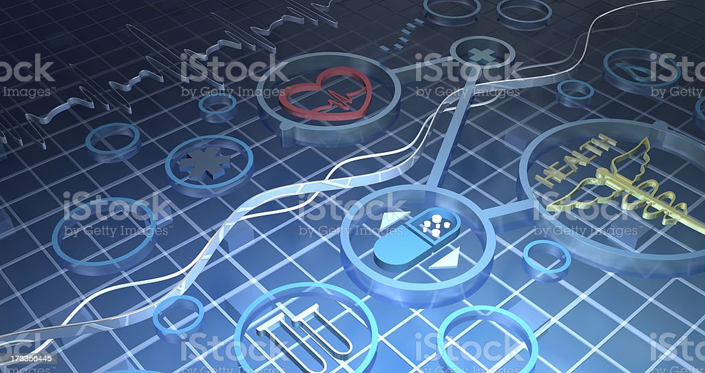 Abstract medical background royalty-free stock photo