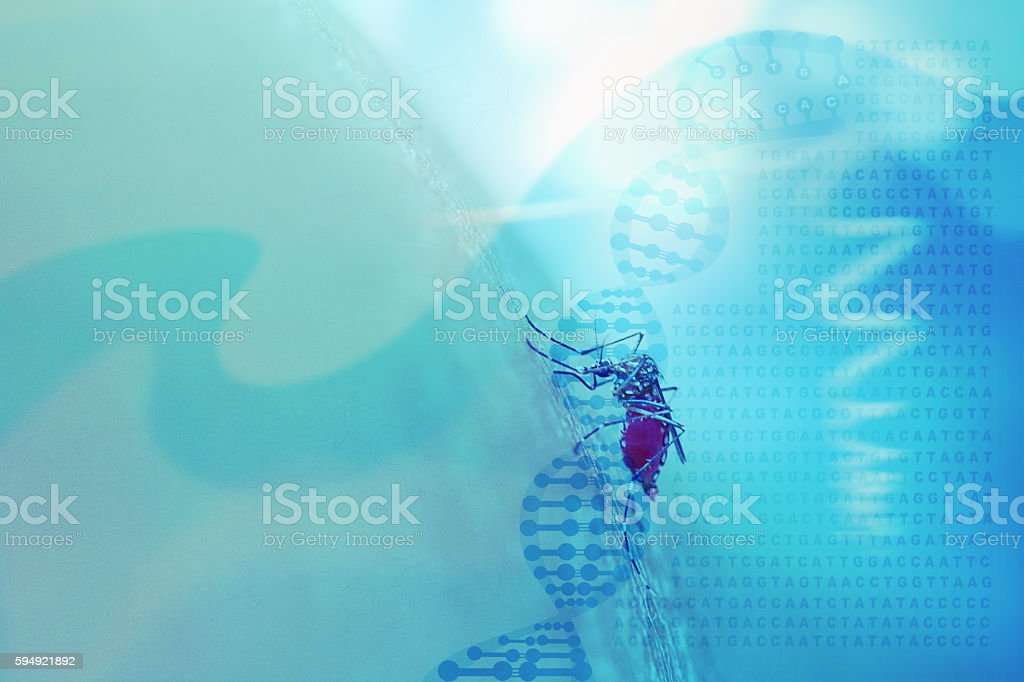 Abstract medical background with DNA helix, genetic code and mos stock photo