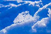 abstract melting snow background with snowdrifts