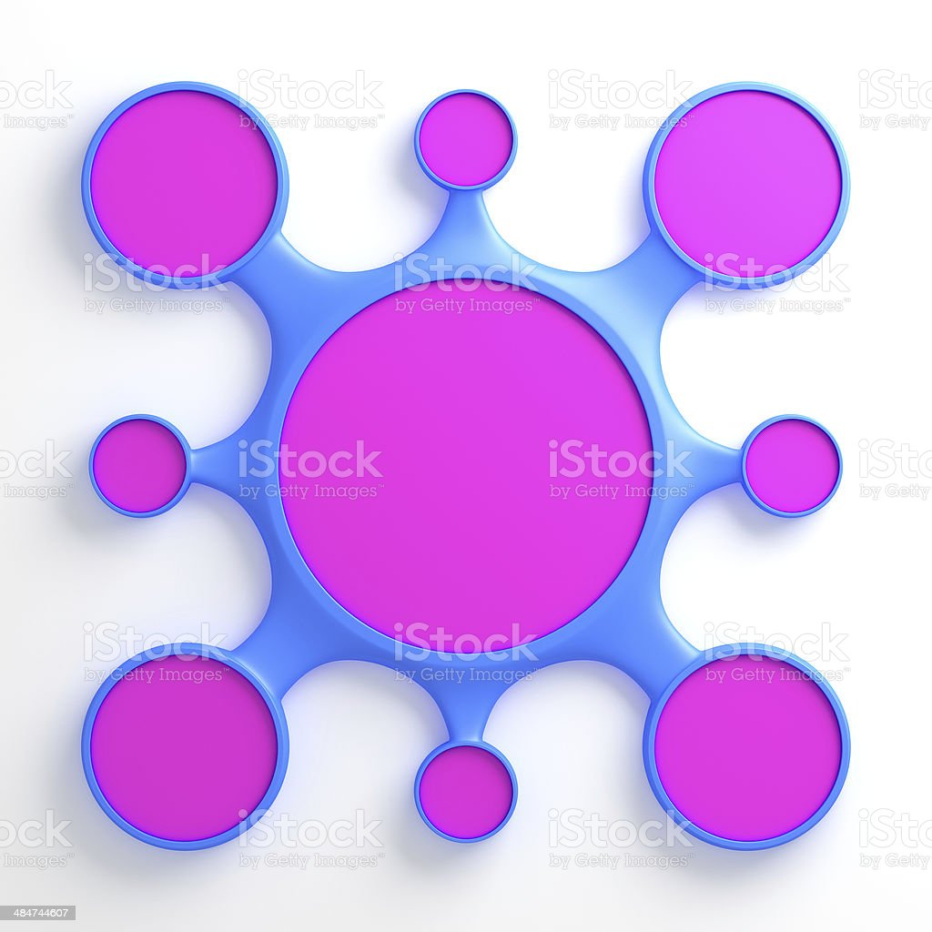 Abstract Metaball Template Diagram stock photo