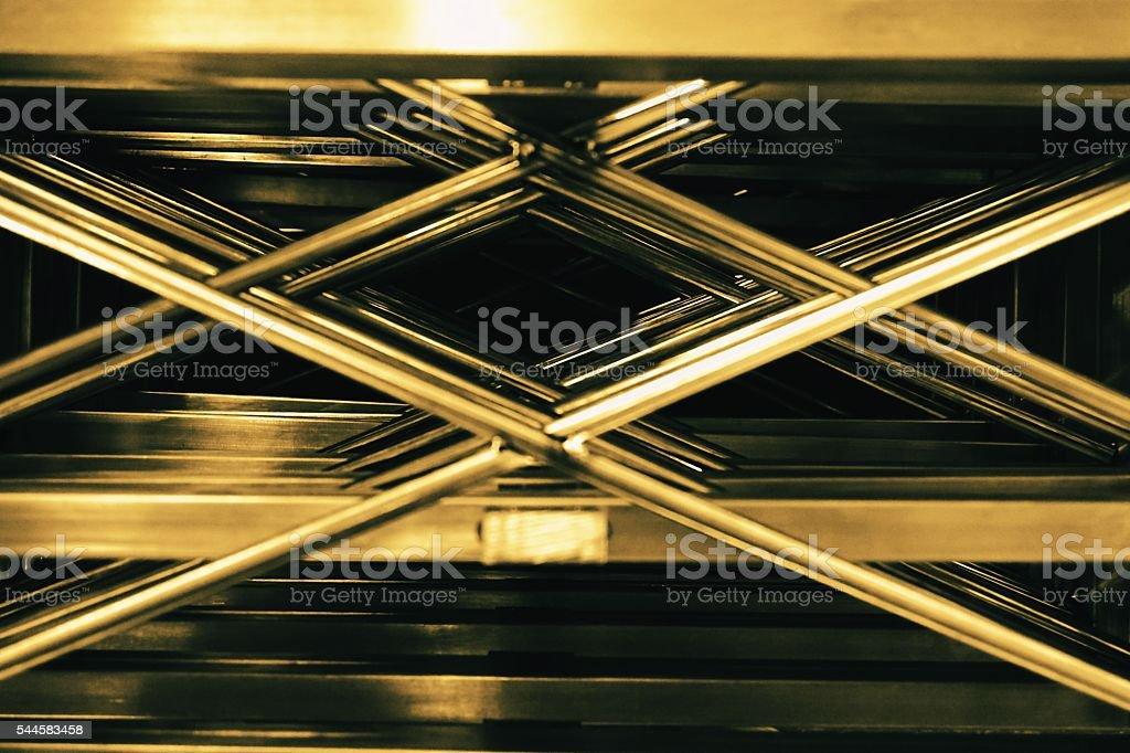 abstract metal cross stock photo