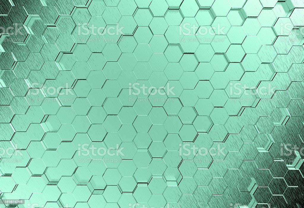 Abstract metal molecules medical background royalty-free stock photo