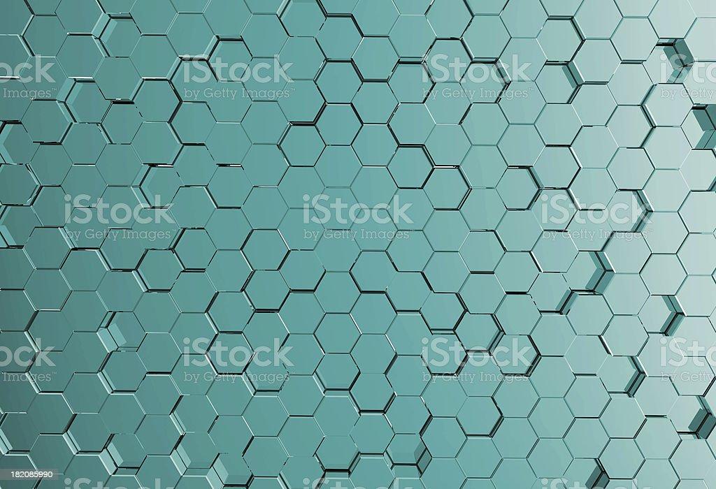 Abstract metal molecules medical royalty-free stock photo