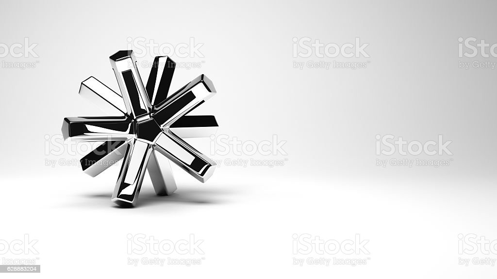 Abstract metal object stock photo