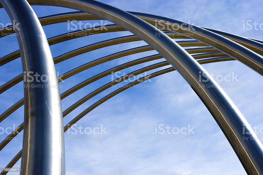 Abstract Metal Pipes royalty-free stock photo
