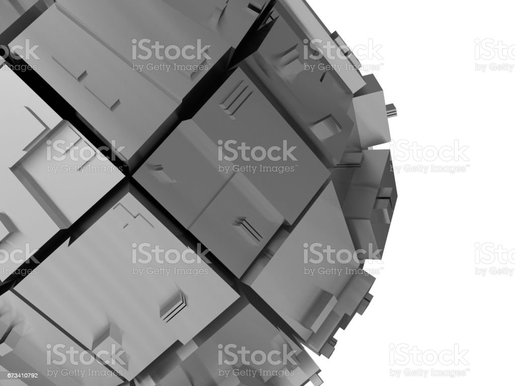abstract metal sphere background stock photo
