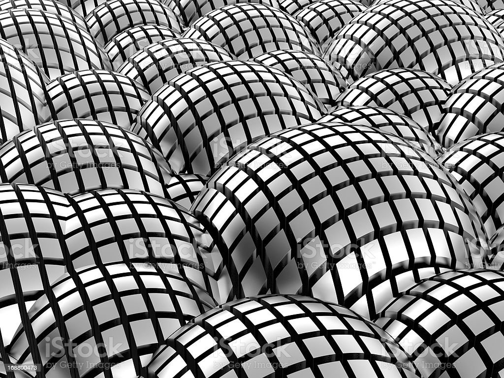 Abstract metal spheres background stock photo