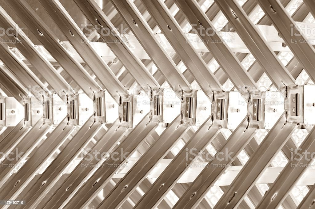 abstract metal spine stock photo