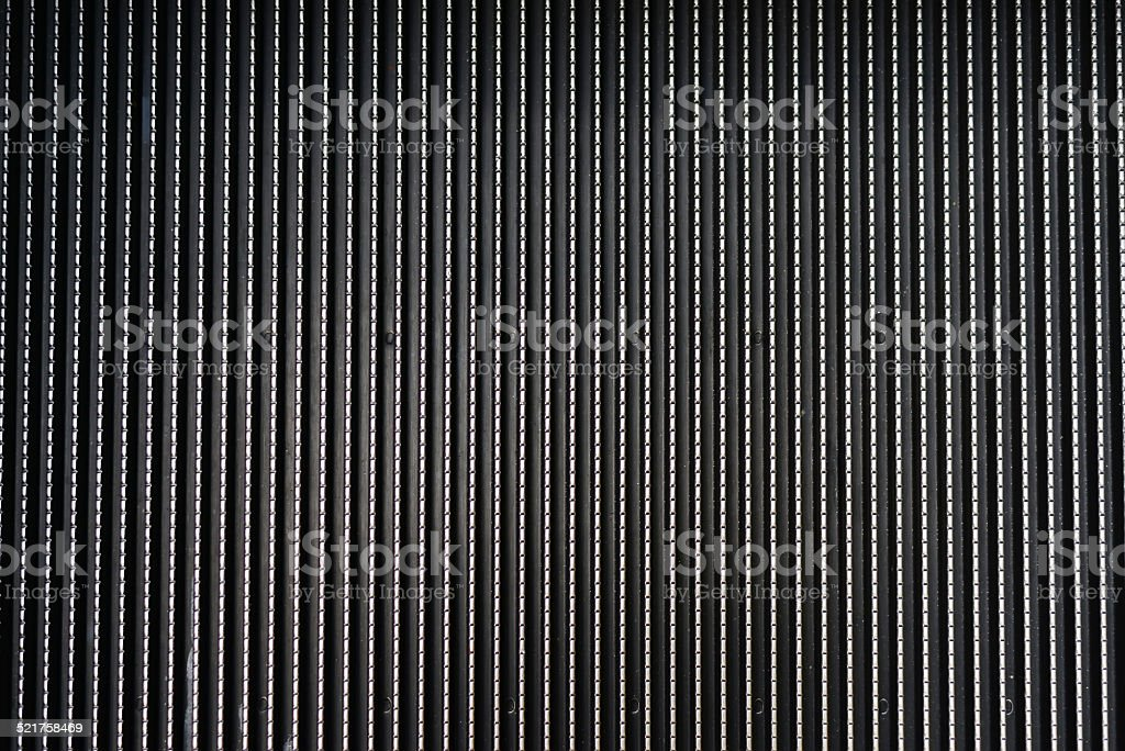 abstract metal texture striped elevator stair background stock photo