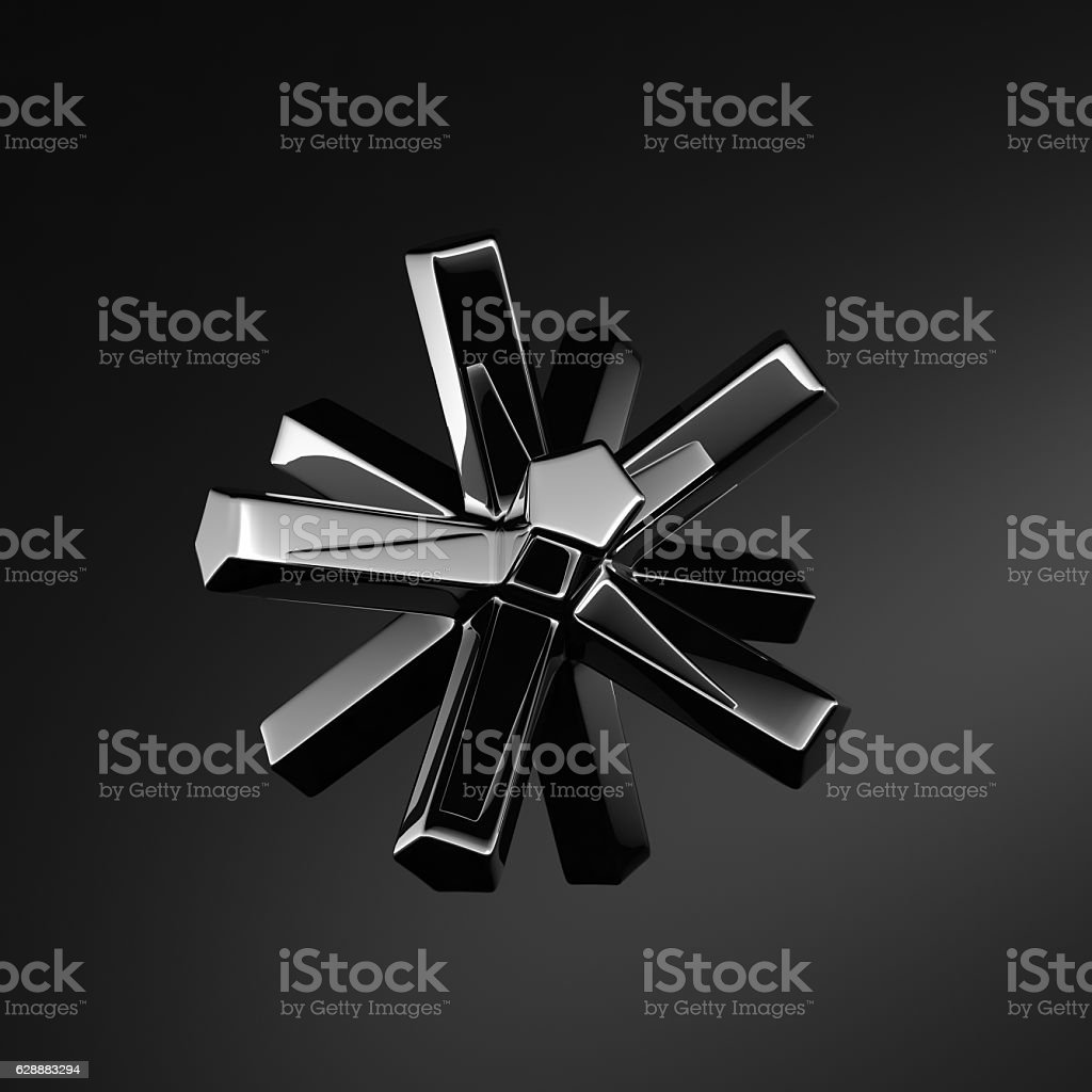Abstract Metal thing stock photo