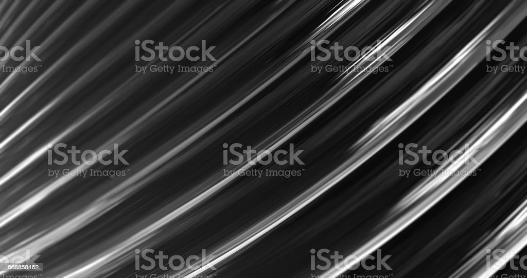 3D Abstract Metallic Reflection. stock photo