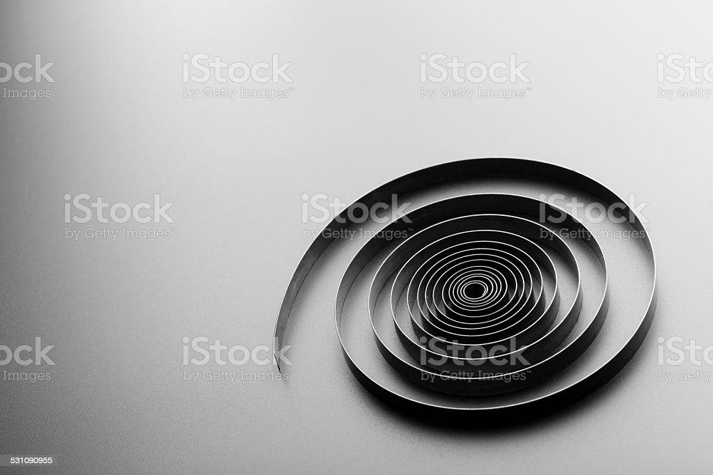 Abstract metallic spiral stock photo