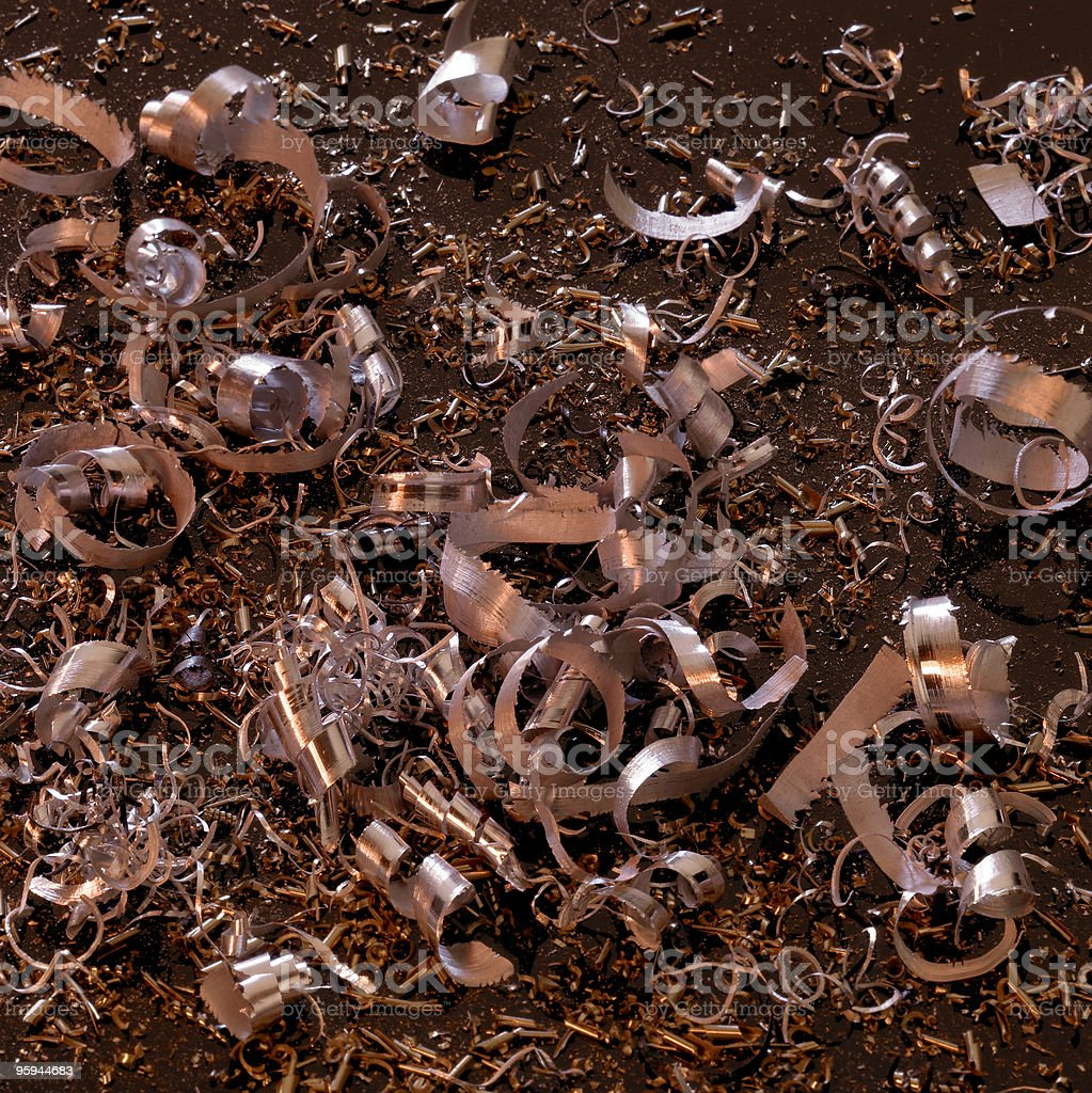abstract metallic swarf back stock photo