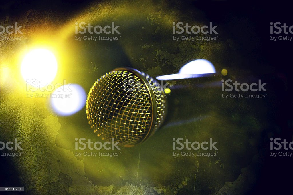 Abstract microphone detail royalty-free stock photo